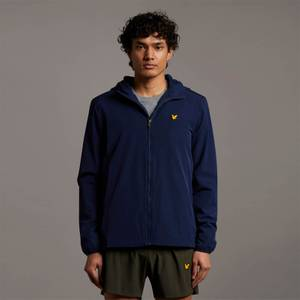 Hooded Jacket with Contrast Piping - Navy