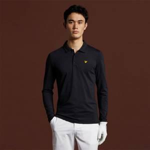 Long Sleeve Polo Shirt - True Black