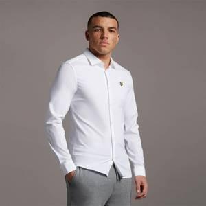 LS Slim Fit Poplin Shirt - White