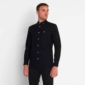 Regular Fit Light Weight Oxford Shirt - Jet Black