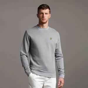 Multi Tipped Sweatshirt - Mid Grey Marl