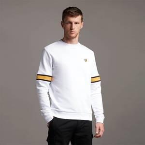 Sleeve Rib Insert Sweatshirt - White