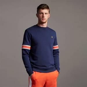 Sleeve Rib Insert Sweatshirt - Navy
