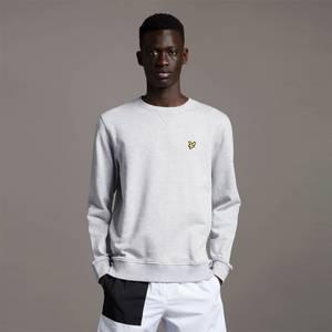 Crew Neck Sweatshirt - Light Grey Marl