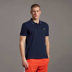 Wide Tipped Polo - Navy