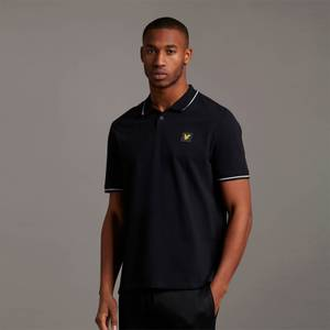 Casuals Tipped Polo Shirt - Jet Black