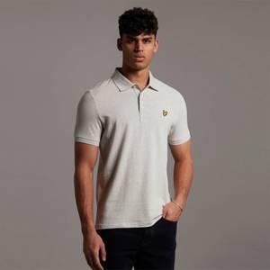 Plain Polo Shirt - Light Grey Marl