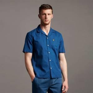 Cotton Linen Resort Shirt - Indigo