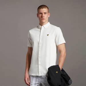 Washed Denim SS shirt - ECRU