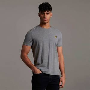 Plain T-Shirt - Mid Grey Marl