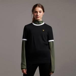 Ringer T-shirt - Jet Black