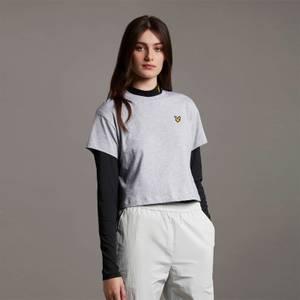 Cropped T-shirt - Light Grey Marl