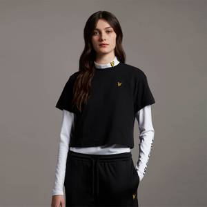Cropped T-shirt - Jet Black