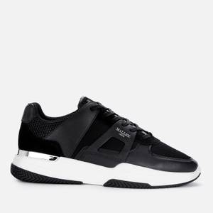 MALLET Men's Marquess Leather Running Style Trainers - Black