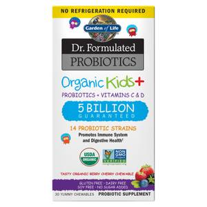 Garden of Life Microbiome Organic Kids' Chewable Tablets - Berry Cherry - 30 Chewables Subscription