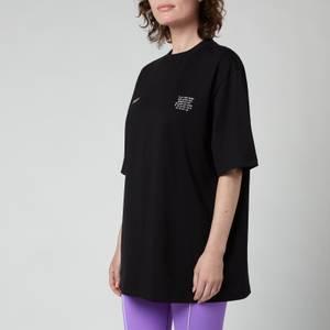 MSGM ActiveWomen's Small Logo T-Shirt - Black