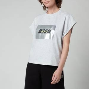 MSGM ActiveWomen's Sleeveless T-Shirt - Light Grey Melange