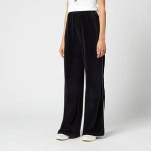 Être Cécile Women's Piping Wide Leg Track Pants - Black