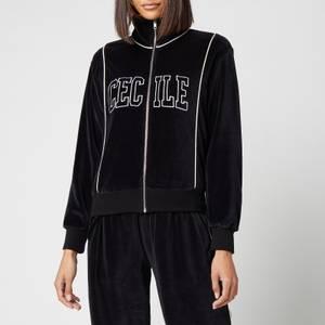 Être Cécile Women's Cecile Varsity Bomber Jacket - Black