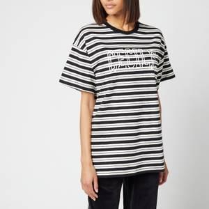 Être Cécile Women's Cecile Varsity Band T-Shirt - Black Cream Stripe