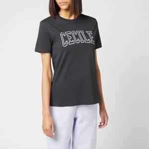 Être Cécile Women's Cecile Varsity Classic T-Shirt - Washed Black