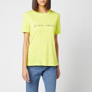 Être Cécile Women's Scribble Classic T-Shirt - Sulphur