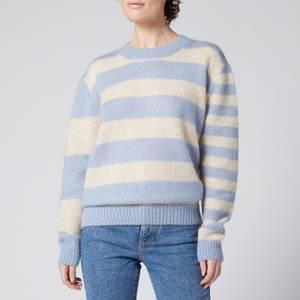 Être Cécile Women's Striped Boxy Knit Jumper - Blue/ Cream