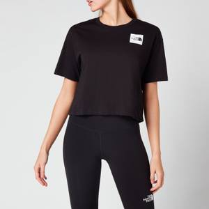 The North Face Women's Cropped Fine T-Shirt - Black