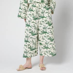 Baum Und Pferdgarten Women's Nobi Trousers - Harbourscape Green