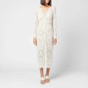 Self-Portrait Women's Embellished Cord Lace Midi Dress - Cream
