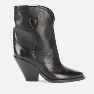 Isabel Marant Women's Leyane Leather Heeled Boots - Black