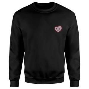 DC Comics XOXO Harley Embroidered Unisex Sweatshirt - Black