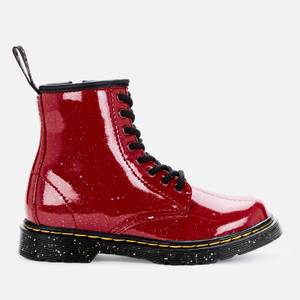 Dr Martens Kids' 1460 Patent Lamper Lace Up Boots - Bright Red Cosmic Glitter