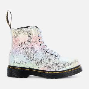 Dr Martens Toddlers 1460 Pascal Lace Up Boots - Rainbow Kidray Toddlers