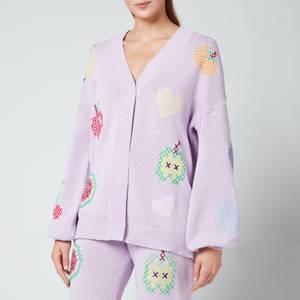 Olivia Rubin Women's Flora Cardigan - Lilac Cross Stitch