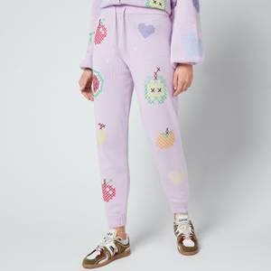 Olivia Rubin Women's Tilda Sweatpants - Lilac Cross stitch
