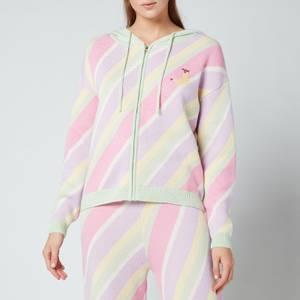 Olivia Rubin Women's Lilian Hooded Jumper - Multi Pastel Stripe
