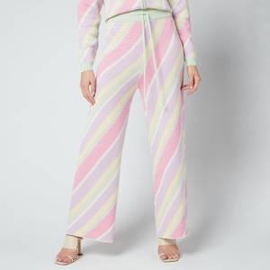 Olivia Rubin Women's Isobel Trousers - Multi Pastel Stripe