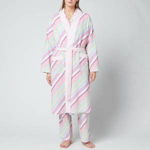 Olivia Rubin Women's Estelle Dressing Gown - Multi Pastel Stripe