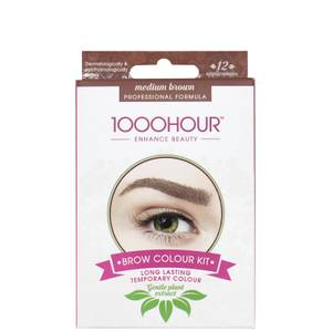 1000 Hour Eyelash & Brow Plant Extract Dye Kit - Medium Brown