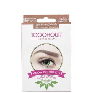 1000 Hour Eyelash & Brow Plant Extract Dye Kit - Light Brown