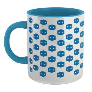 Pop In A Box Pattern Mug - Blue