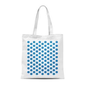 Pop In A Box Pattern Tote Bag - White