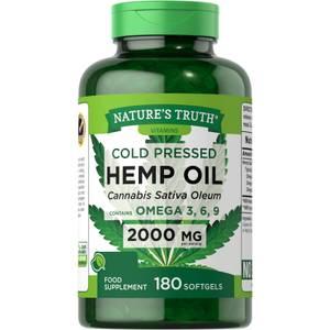 Cold Pressed Hemp Seed Oil 2000mg - 180 Softgels