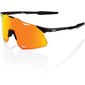 100% Hypercraft Sunglasses with HiPER Multilayer Mirror Lens - Matt Black/Red