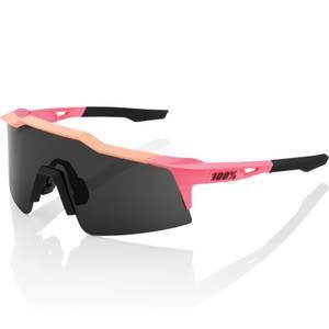 100% Speedcraft SL Sunglasses - Neon Pink/Smoke