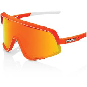 100% Glendale Sunglasses with HiPER Multilayer Mirror Lens - Neon Orange/Red