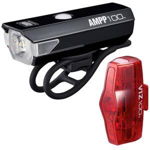 Cateye AMPP 100/Viz 100 Light Set