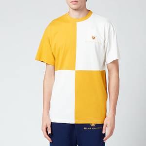 Bel-Air Athletics Men's Macro Check T-Shirt - Lion, Notebook White