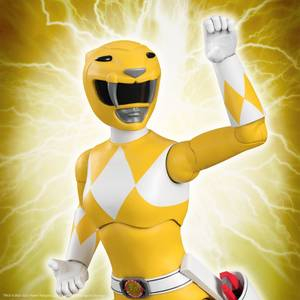 Super7 Mighty Morphin Power Rangers ULTIMATES! Figure - Yellow Ranger
